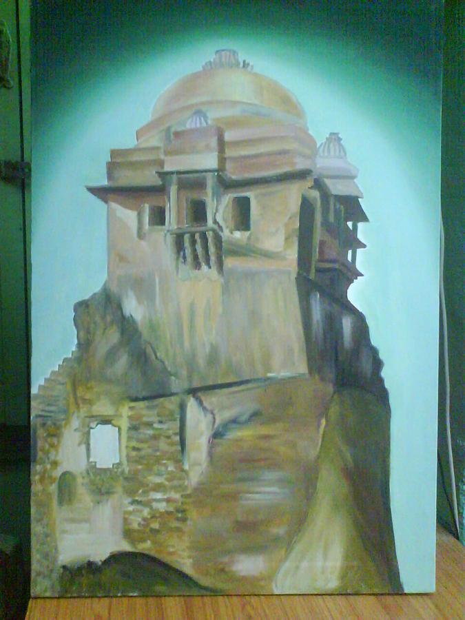 Fort Scene Painting by Gayatri Maheshwari