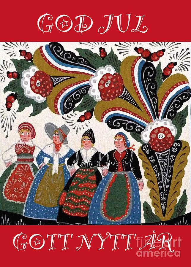 Four Women Dancing Mixed Media by Leif Sodergren