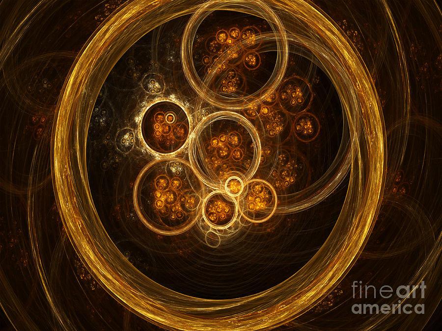 Science Photograph - Fractal Flames by Scott Camazine