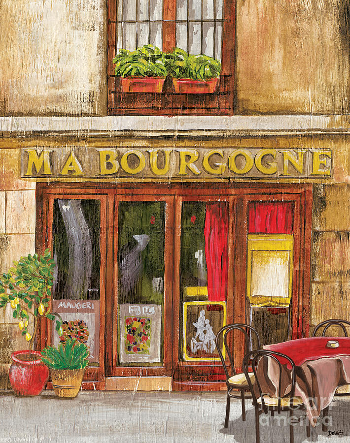 Restaurant Painting - French Storefront 1 by Debbie DeWitt