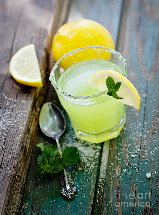 Alcohol Photograph - Fresh Lemonade by Mythja  Photography