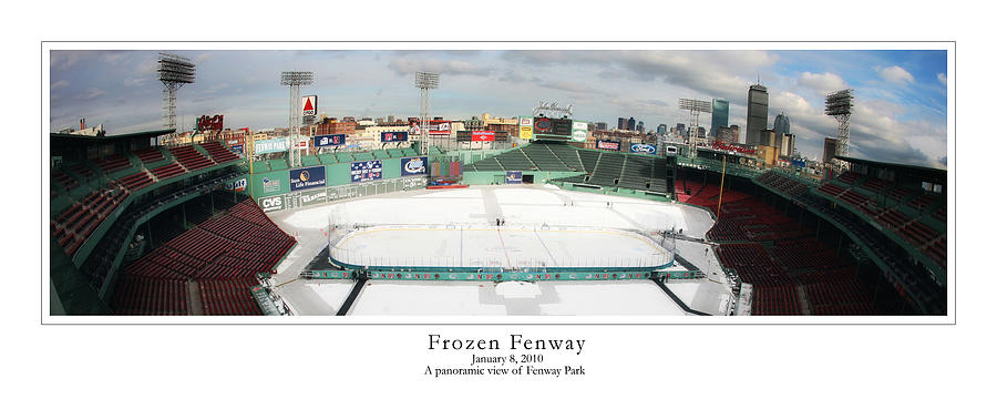 Fenway Park Photograph - Frozen Fenway by Kristopher Ventresco