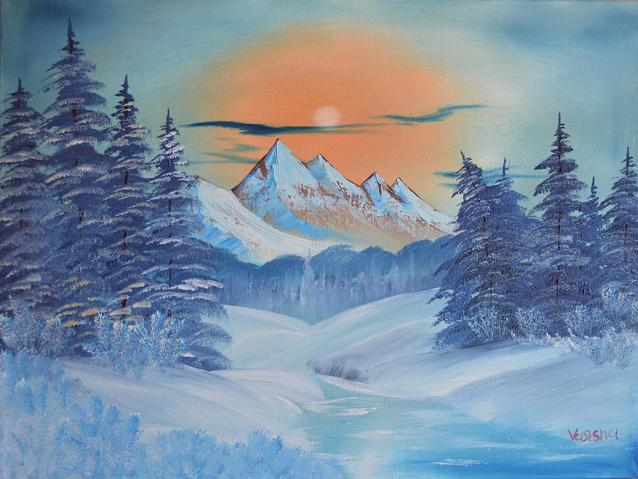 Sun Painting - Frozen Winter by Varsha Patel