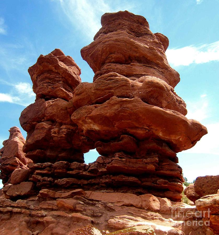 Rock Formations Photograph - Garden Of The Gods by Claudette Bujold-Poirier
