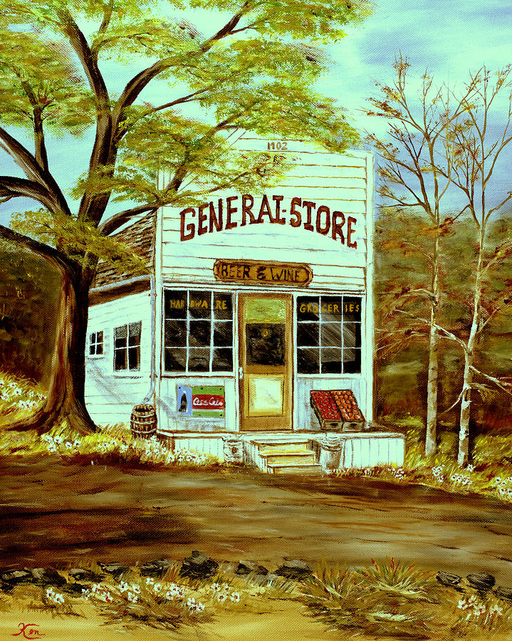 Landscape Painting - General Store 1902 by Kenneth LePoidevin