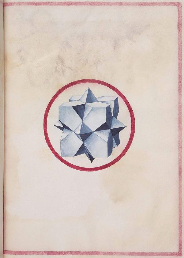 Geometric Perspective  16th Century Anonymous Paper Manuscript Drawing