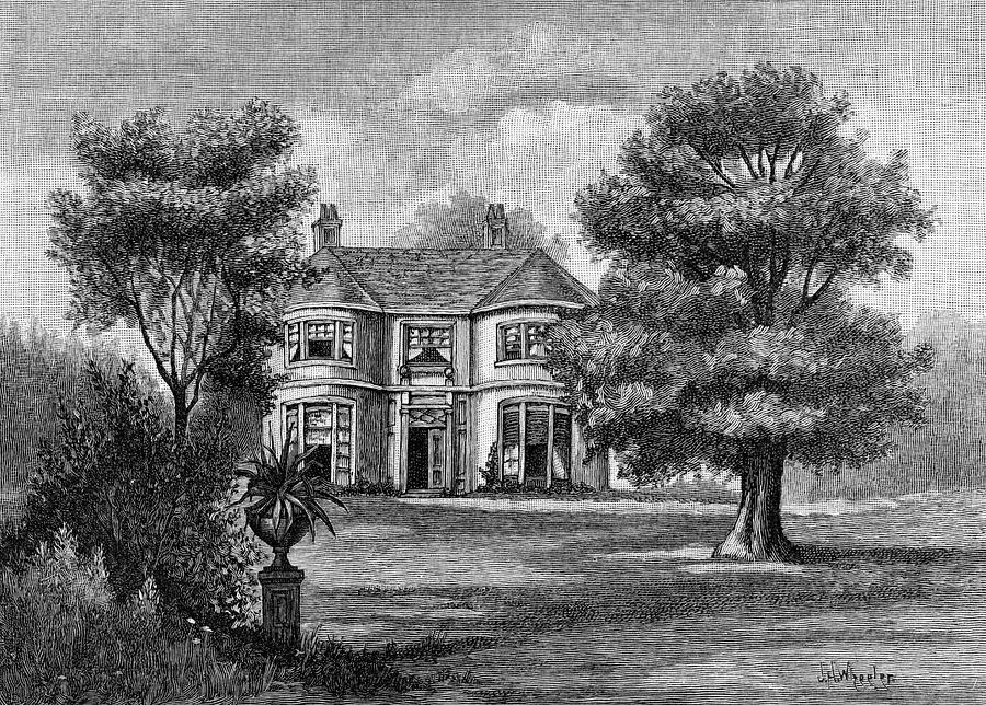 George Eliot (mary Ann Evans) Home Drawing by Mary Evans Picture Library