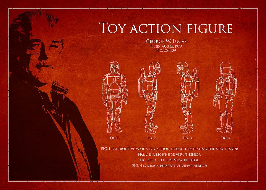 George Lucas Digital Art - George Lucas Patent 1979 by Aged Pixel