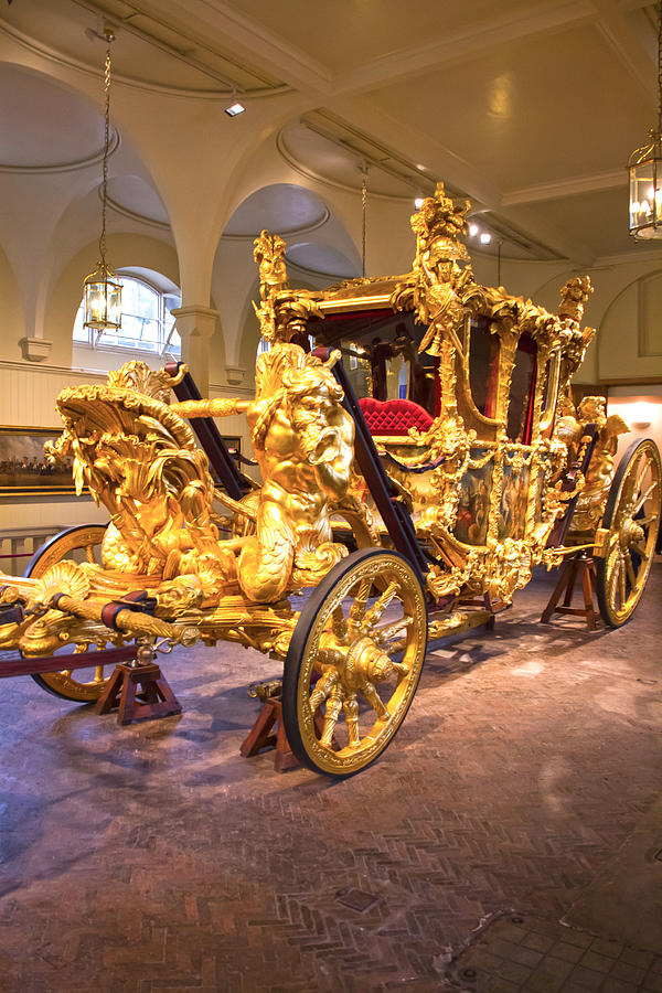 Gold State Coach Photograph - Gold State Coach Queen Elizabeth II by David French