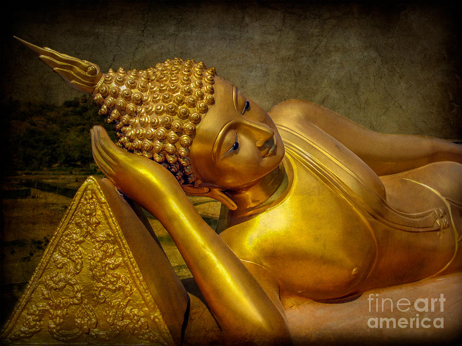 Temple Photograph - Golden Buddha by Adrian Evans