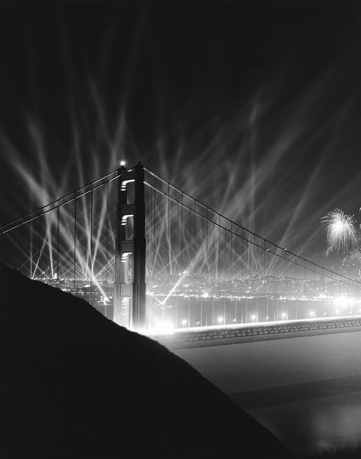 1930's Photograph - Golden Gate Bridge Opening by Underwood Archives