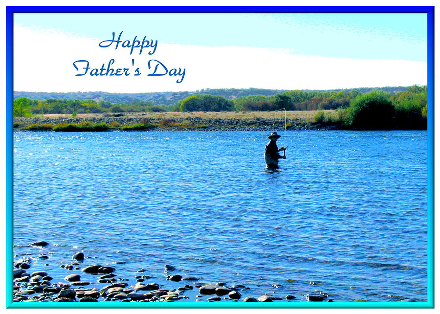 Father\'s Day Photograph - Gone Fishing by Joyce Dickens