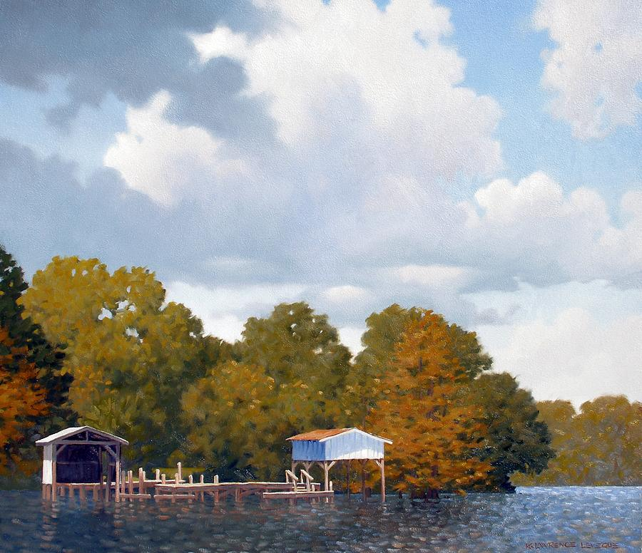 Bayou Painting - Gone Fishing by Kevin Lawrence Leveque