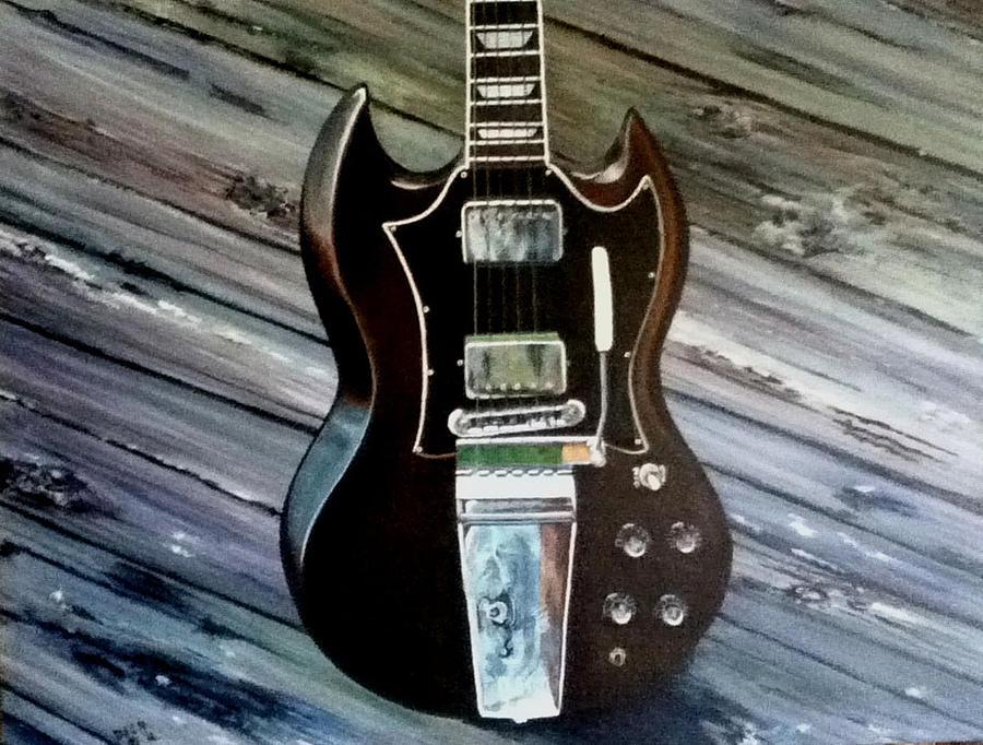 Guitar Painting - Got Guitar 2 by Tioga Dan  Sloane