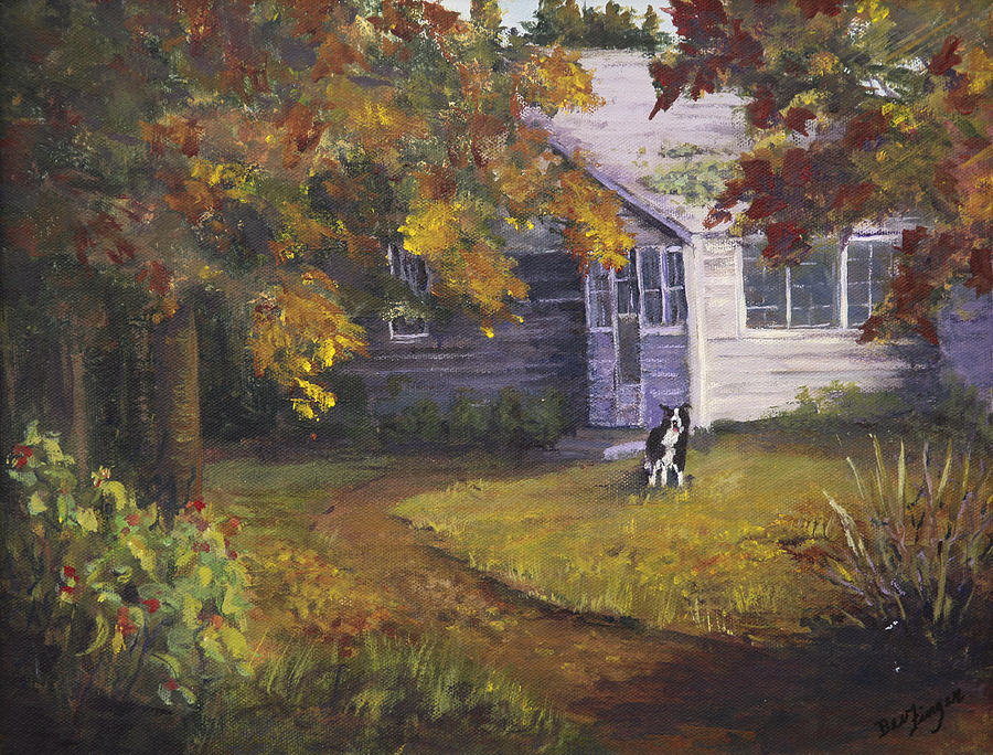 Rural America Painting - Grandmas House by Bev Finger
