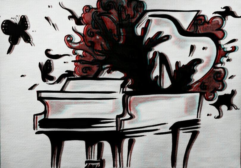 Music Painting - Grandpiano by Kiara Reynolds