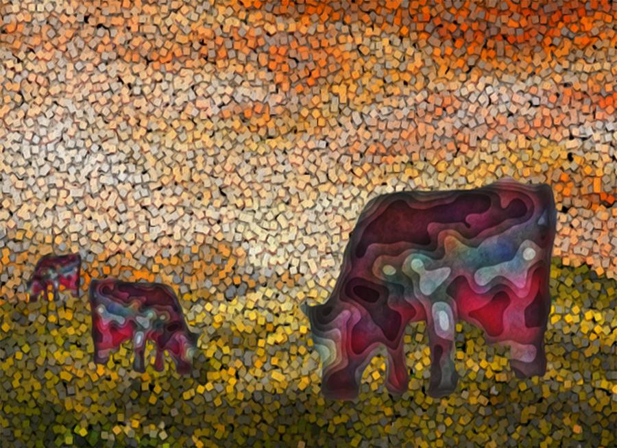 Digital Painting - Grazing  by Jack Zulli