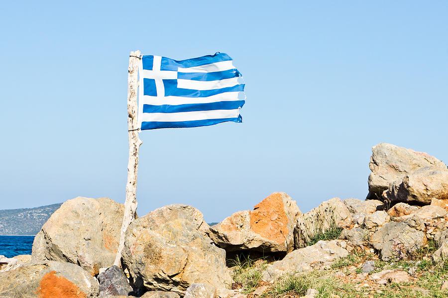 Greek Flag Photograph