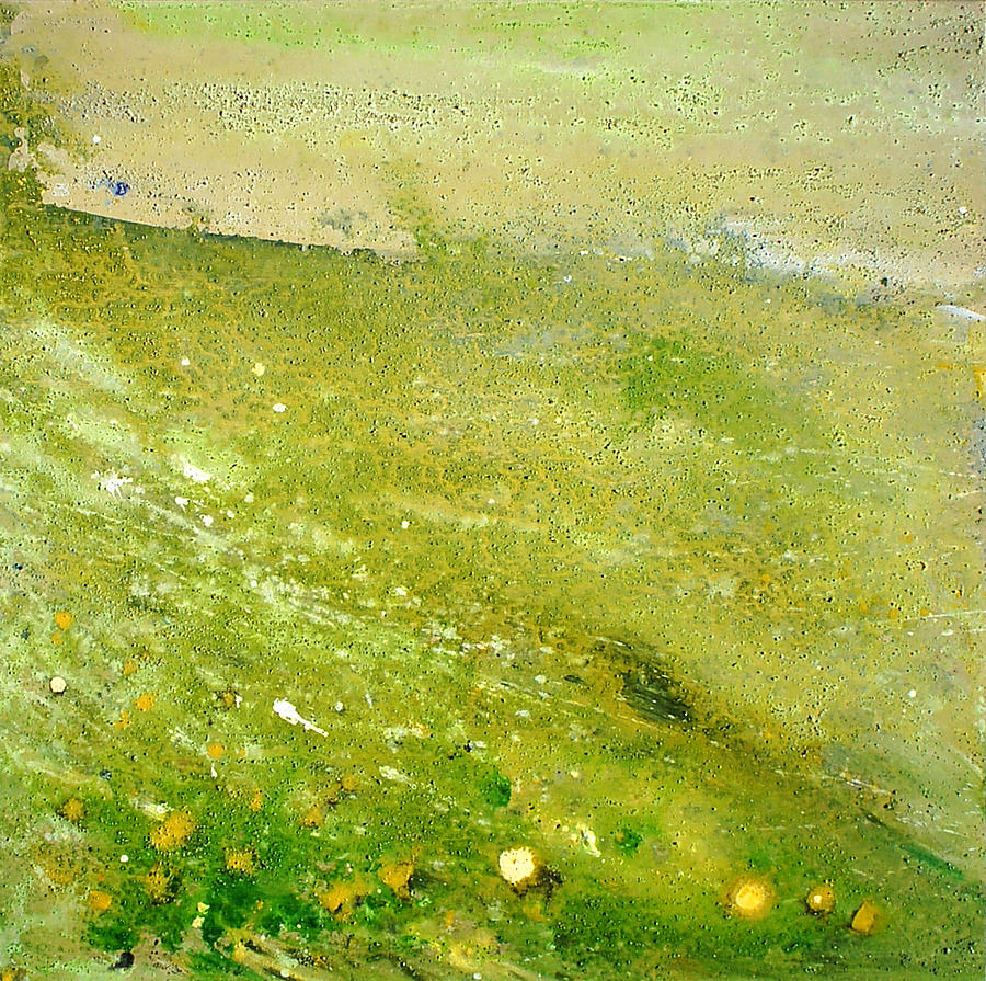 Landscape Painting - Green Field  by Tanya Byrd