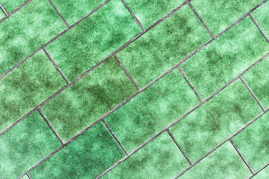 Aged Photograph - Green Tiles by Tom Gowanlock