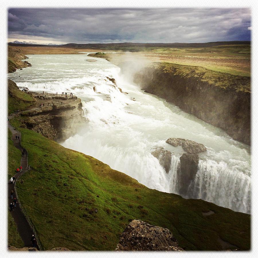 Gullfoss Photograph - Gullfoss waterfall Iceland by Matthias Hauser