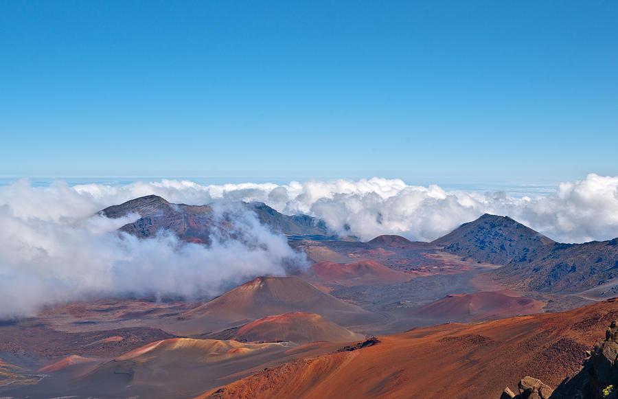 Haleakala Volcano And Crater Maui Hawaii Photograph