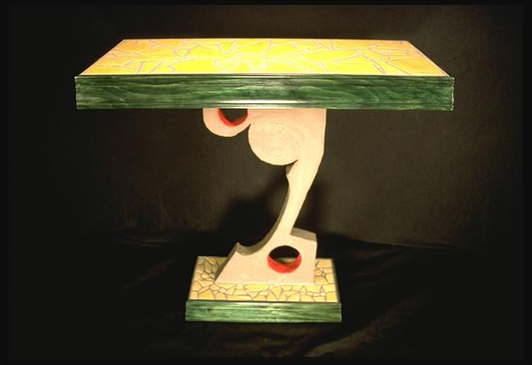 Furniture Ceramic Art - Hall Table by Kreg Owens