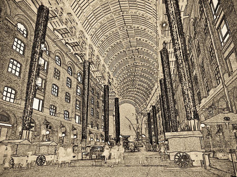 Hays Digital Art - Hays Galleria London Sketch by David Pyatt