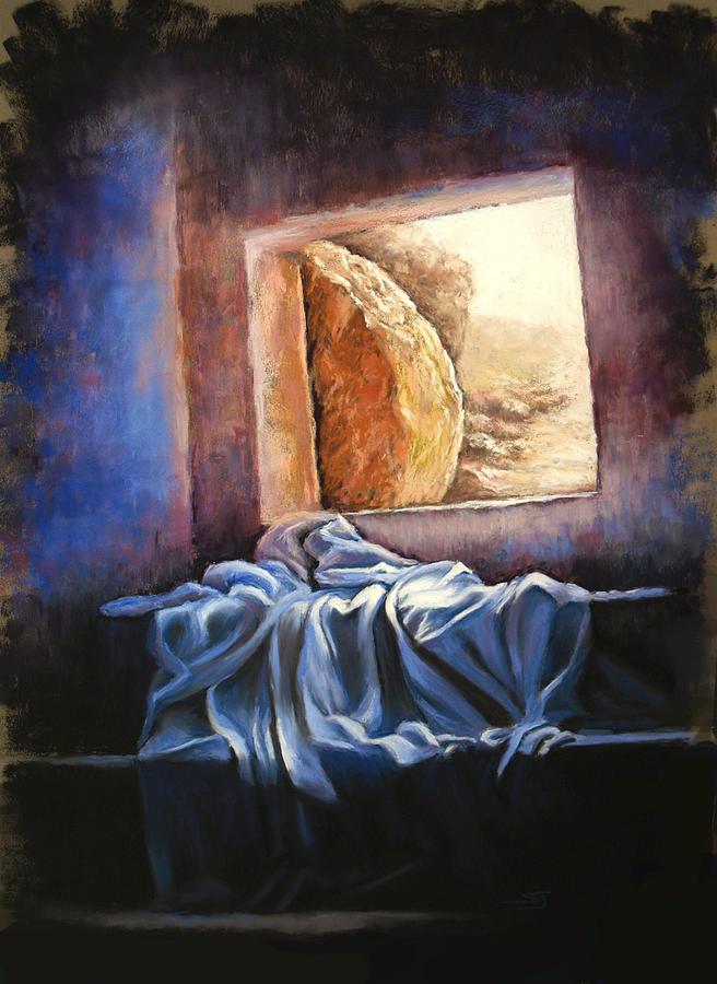Christian Pastel - He Is Risen by Susan Jenkins