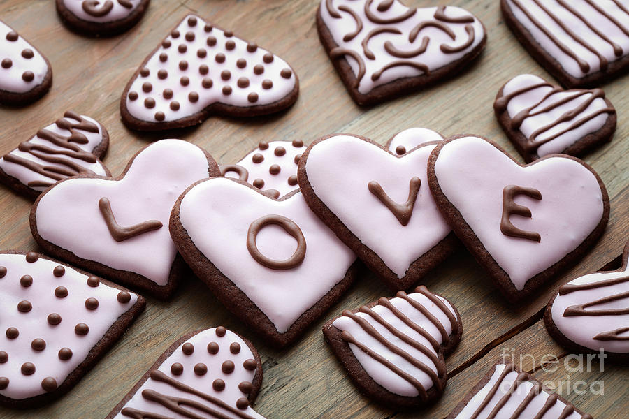 Anniversary Photograph - Heart Cookies by Kati Finell