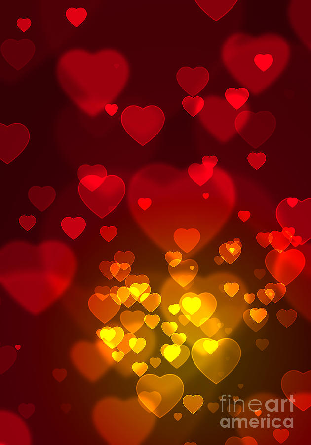 Blur Photograph - Hearts Background by Carlos Caetano