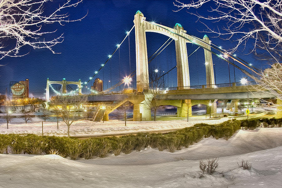 Hennepin Photograph - Hennepin Avenue Bridge by Jason Alexander
