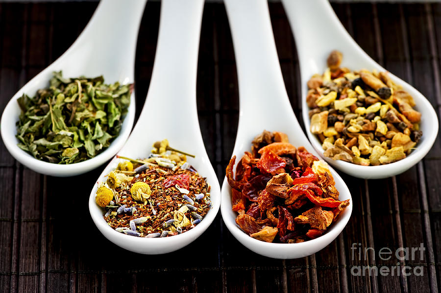 Tea Photograph - Herbal Teas by Elena Elisseeva