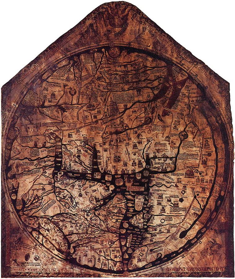 Hereford Mappa Mundi 1300 Mixed Media by L Brown