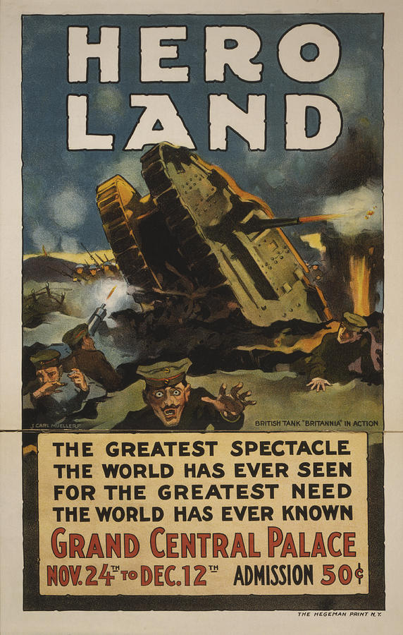 1917 Photograph - Hero Land Poster by Underwood Archives
