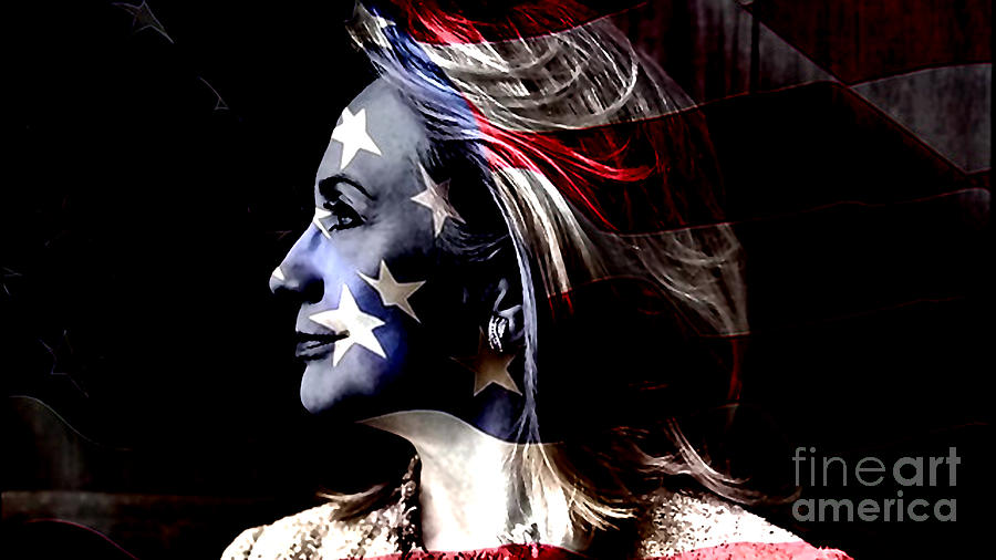 Clinton Mixed Media - Hillary 2016 by Marvin Blaine