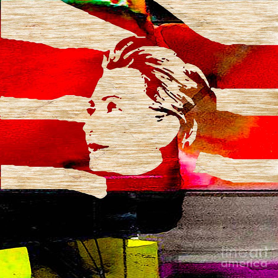 Bill Clinton Mixed Media - Hillary Clinton by Marvin Blaine