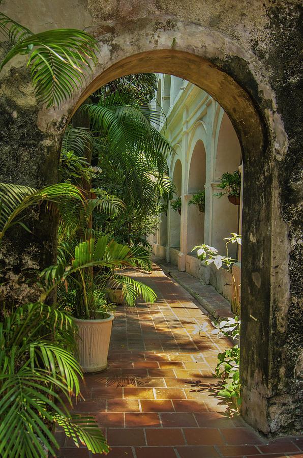 Arch Photograph - Historic Santuario And Iglesia De San by Jerry Ginsberg