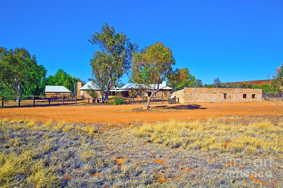 Historical Telegraph Station Alice Springs  Photograph by Bill  Robinson