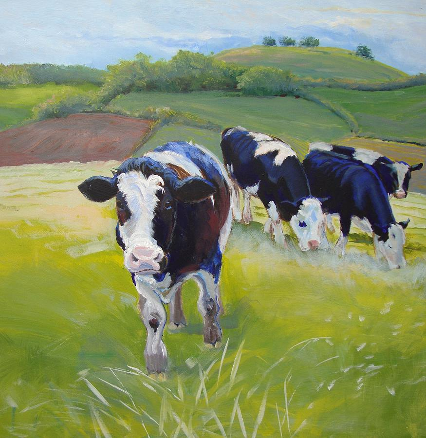 Holstein Friesian Cows Painting By Mike Jory
