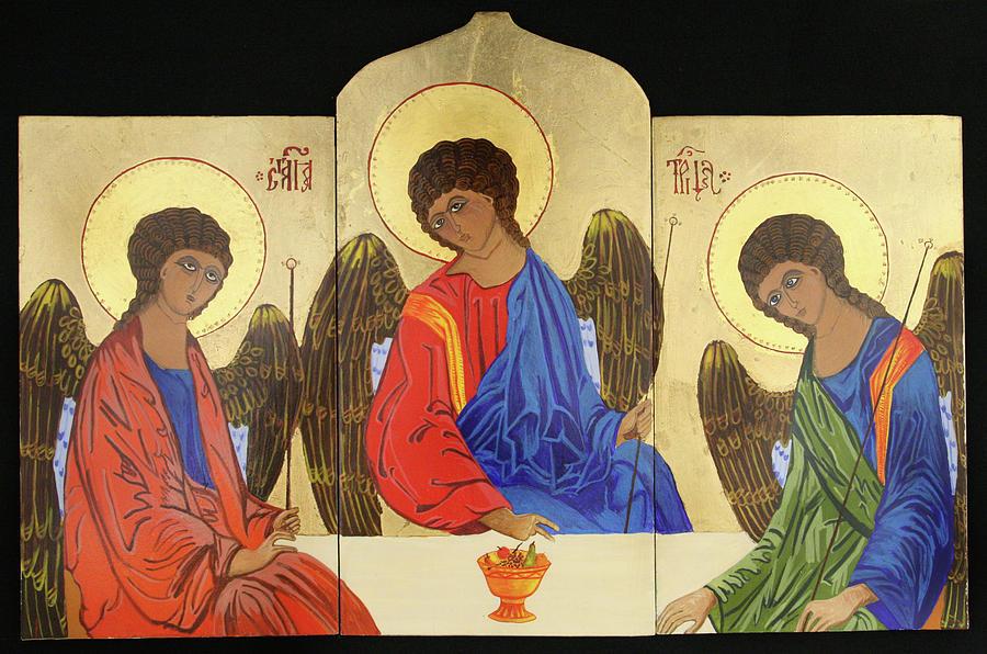 Holy Trinity Painting - Holy Trinity by Amy Reisland-Speer