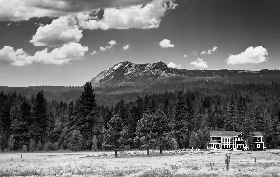 Black And White Photograph - Home In The Valley by Mick Burkey