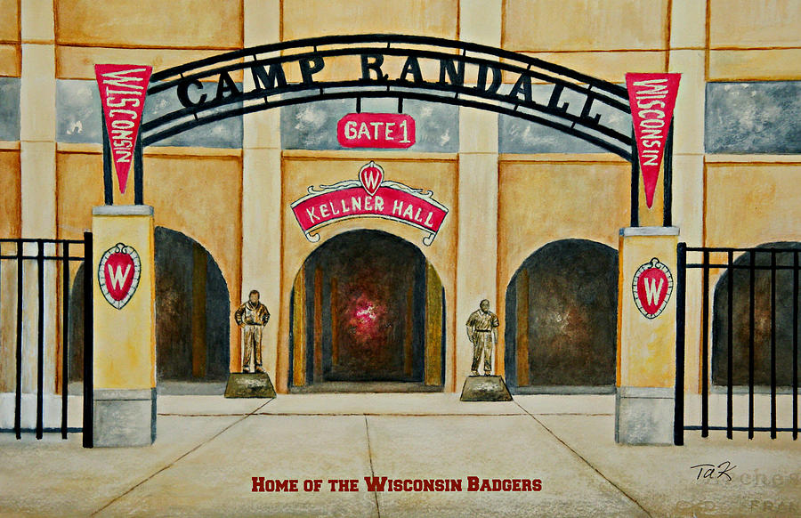 Football Painting - Home Of The Badgers by Thomas Kuchenbecker