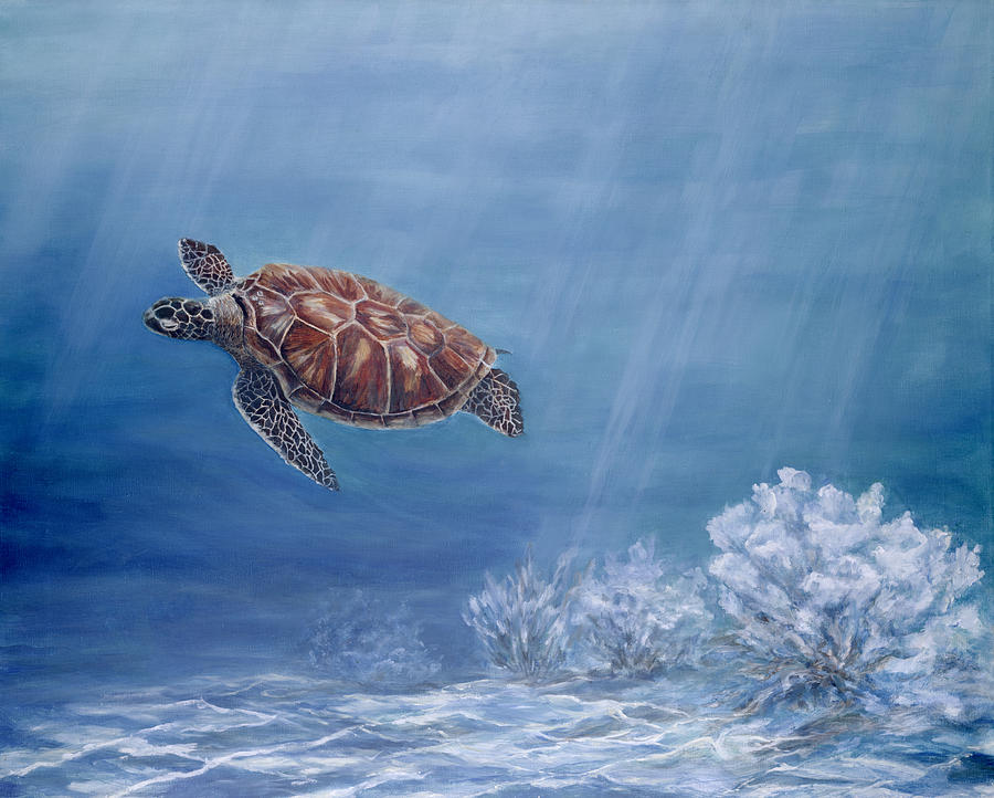 Honu Painting - Honu by Dorothea Hyde