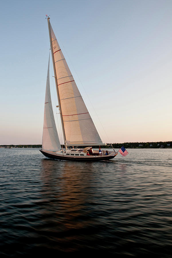 Vertical Photograph - Hope M52 Yacht Sailing In Sea, Rhode by Panoramic Images
