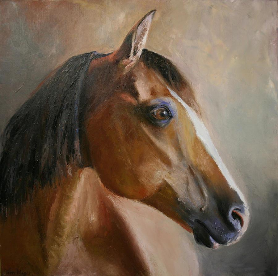 Horse Portrait Painting - Horse Portrait II by Terri  Meyer