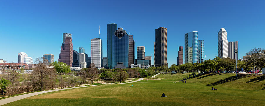 Horizontal Photograph - Houston, Texas - High Rise Buildings by Panoramic Images