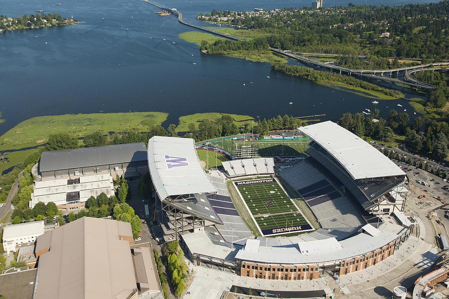 America Photograph - Husky Stadium At The University by Andrew Buchanan/SLP