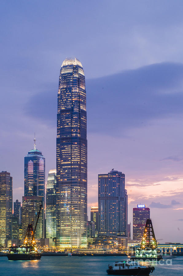 Victoria Photograph - Ifc Tower In Hong Kong Skyline by Tuimages