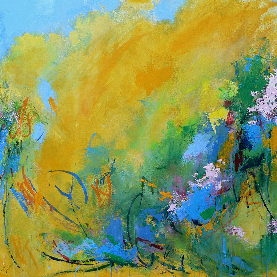 Abstract Painting - In the Garden by Jacquie Gouveia